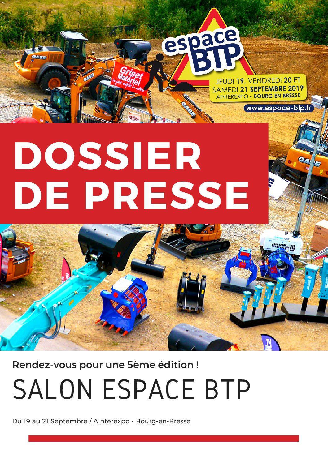 DOSSIER DE PRESSE ESPACE BTP IMPRESSION